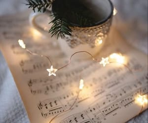 christmas, light, and music image