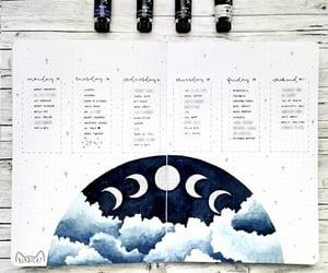 calendar, inspiration, and moon image