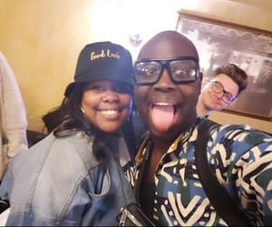 amber riley, chris colfer, and bob the drag queen image