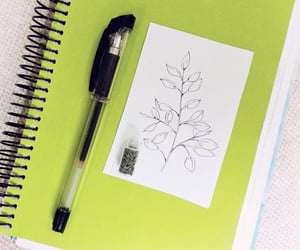 draw, drawing, and leaves image