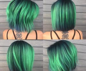 green hair and neon green image