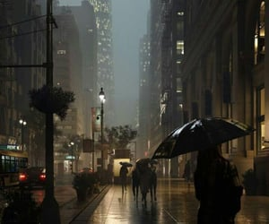 city, rain, and night image