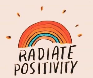 rainbow, positive, and positivity image