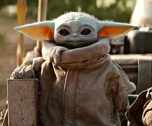 adorable, star wars, and baby yoda image