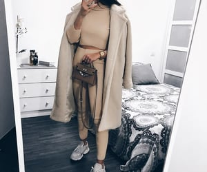 fashion, jacket, and sneakers image