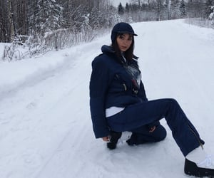 blue, winterwear, and girl image
