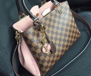 bag, brown, and fancy image
