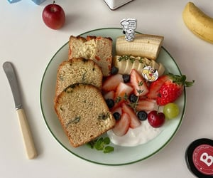 bread, breakfast, and diet image
