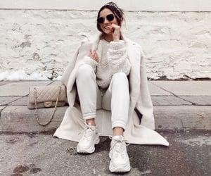 cream, fall fashion, and fashion image