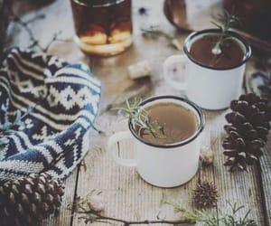 winter, cozy, and tea image