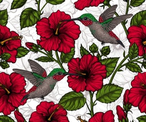 background, bird, and blossom image