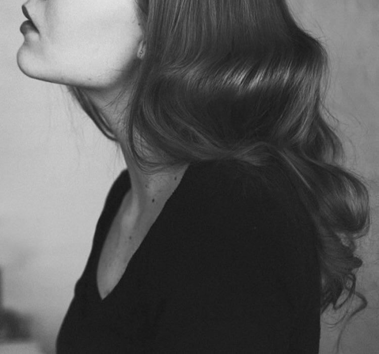 black, hair, and lipstick image