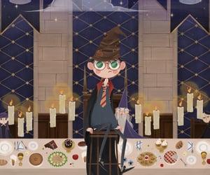 art, harry potter, and hogwarts image
