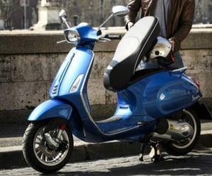 bike, motorbike, and Vespa image