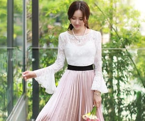 Full Skirt, lace, and pleats image