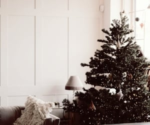 bedroom, christmas, and christmas tree image