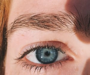 blue eyes, redhead, and ocean eyes image
