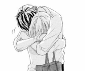 manga, love, and hug image