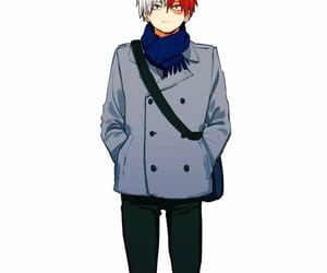 anime, todoroki, and handsome image