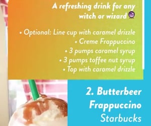 frappuccino, starbucks, and butterbeer image