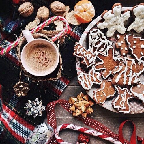 article, gingerbread, and marshmallows image