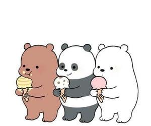 cute, ice cream, and we bare bears image