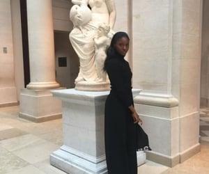 art gallery, dark, and hair image