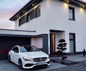 car, home, and mercedes image