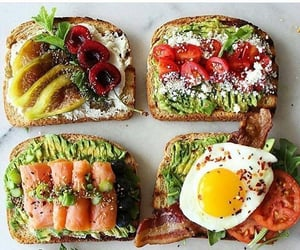 food, toast, and avocado image