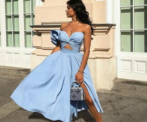 blue, dress, and on fleek image