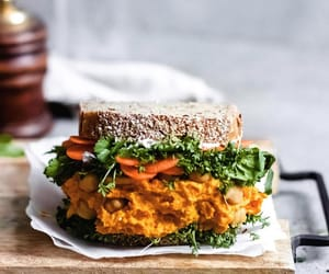 food, sandwich, and vegan image