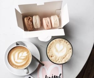 brunch, drink, and macaroons image
