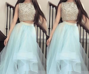 blue prom dress, prom gown, and prom dresses long image