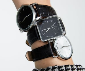 men and watch image