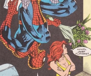 Avengers, flowers, and spiderman image
