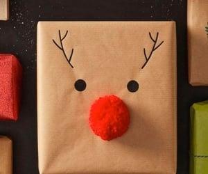 christmas, gifts, and reindeer image