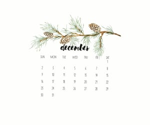 background, calendar, and christmas image