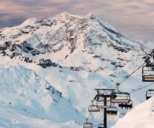 cable car, vacation, and mountains image