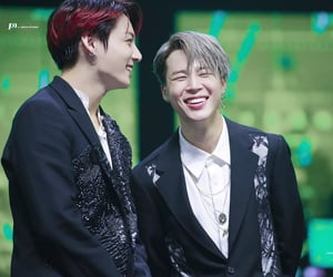 laughing, jikook, and 191130 image