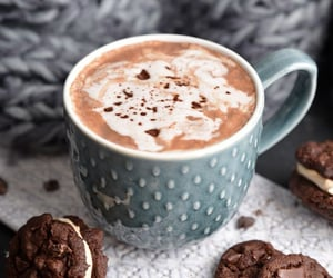 coffee, cookie, and winter image