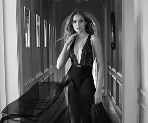 black and white, girl, and josephine skriver image