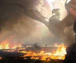 art, beast, and dragon image