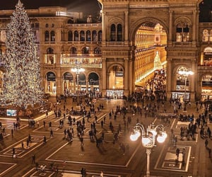 lights, italy, and milan image