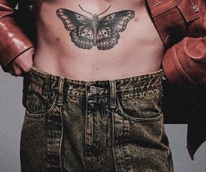 Harry Styles, butterfly, and gucci image