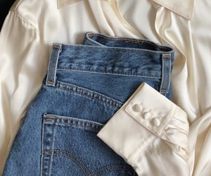 denim, outfits, and satin image