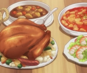 food and anime image