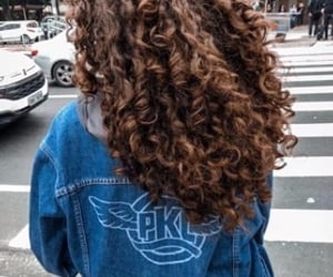 hair, curly hair, and hairstyle image