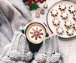 coffee, cookie, and cup of coffee image