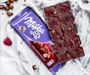 berries, chocolate, and chocolate milka image