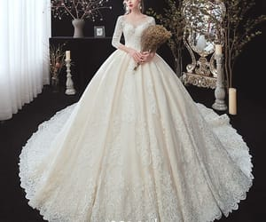 bridal, winter wedding dress, and bridal gown image